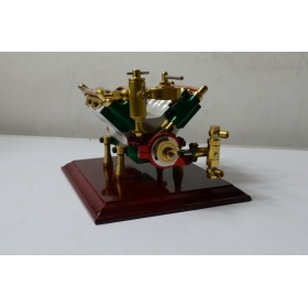 V4-cylinder steam engine ( with Steam boiler feed pump)-B