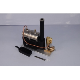 MicrocosmQ1 Vertical steam engine model with the Boiler