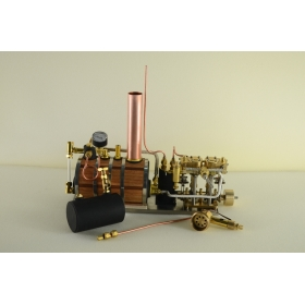 New Two-cylinder steam engine Live Steam with Steam Boiler
