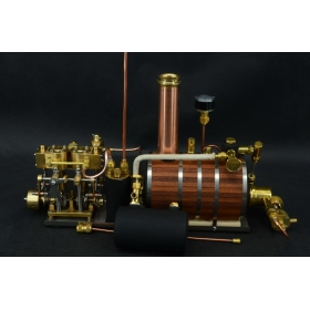 New Two-cylinder steam engine Live Steam with Steam Boiler With